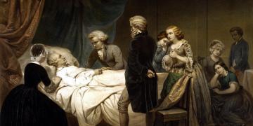 Washington on his Deathbed