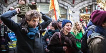 Hart boven Hard betoging Antwerpen december 2014