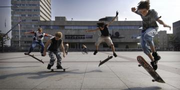 Skaters in Eindhoven