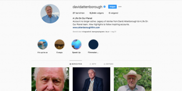 David Attenborough's Instagram account