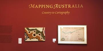 Entry to Mapping Australia Exhibition