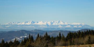 Tatra mountains at Slovak-Polish border