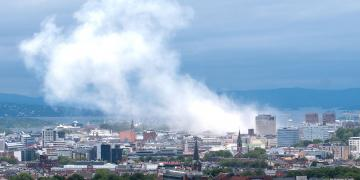 Oslo city after the 2011 bombing
