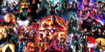 Collage of the Marvel Cinematic Universe film posters