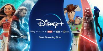 Promotional Material Disney+ Moana, Toy Story, Marvel's Thor, etc.