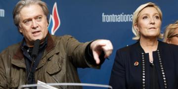 steve bannon marine le pen front national rassemblement national populism congress party jean marie le pen