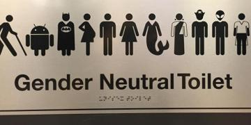 gender-neutral bathroom sign