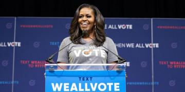 Michelle Obama as a representative of the When We All Vote Squad