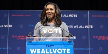 Michelle Obama as a representative of the When We All Vote Squad