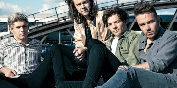 Image of One Direction's Niall Horan, Harry Styles, Louis Tomlinson and Liam Payne
