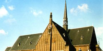Side of the church of the Holy Heart in Tilburg