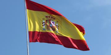 Waving Spanish Flag