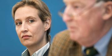 AfD party leaders Alice Weidel and Alexander Gauland
