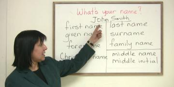 What is your name English course