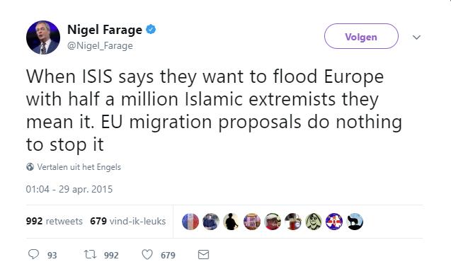Figure 10. Nigel Farage on Twitter (April 29, 2015)