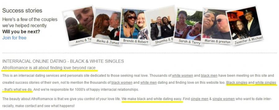 All white dating website
