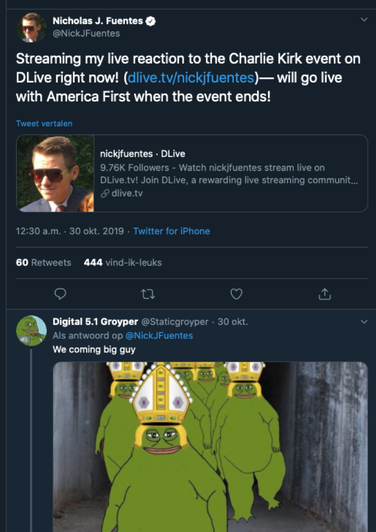 Charlie Kirk 's Culture War Tour and the Groyper trolls