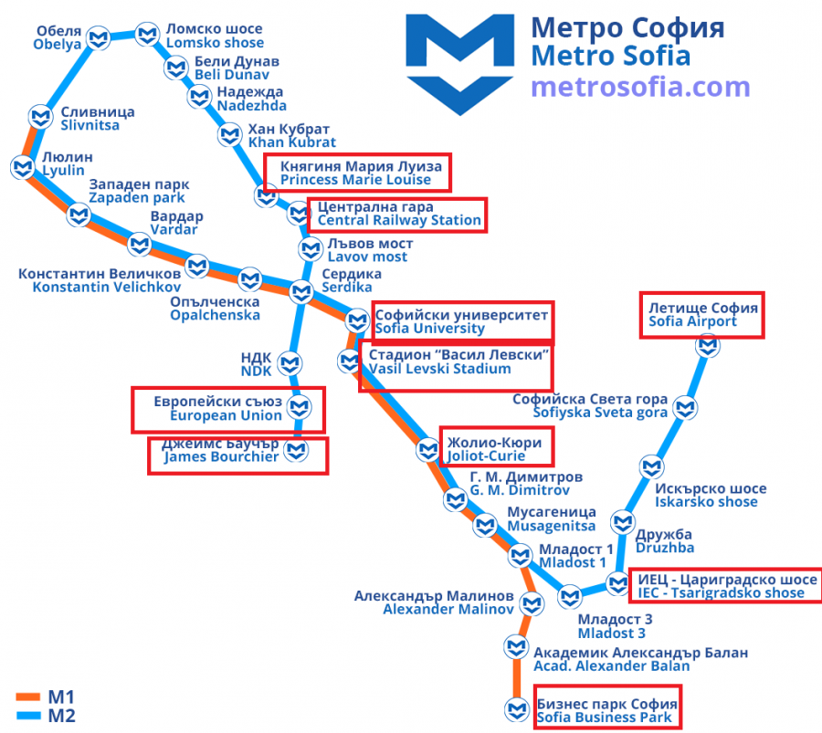 Sofia Subway Map.Exploring The Linguistic Landscape In The Sofia Subway Diggit Magazine